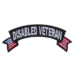 MidMil Embroidered Disabled Veteran Tab Patch with USA tails