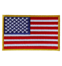"MidMil Embroidered American Flag Patch  4"" x 2.5"""