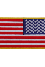 """MidMil Embroidered Reverse American Flag Patch 4"""" wide x 2.5"""" high"""
