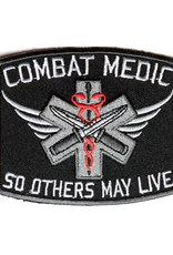 "MidMil Embroidered Army Medic Combat Patch with Motto ""So Others May Live"" 3.5"" wide x 3"" high"