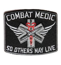 "MidMil Embroidered Army Medic Combat Patch with Motto ""So Others May Live"""