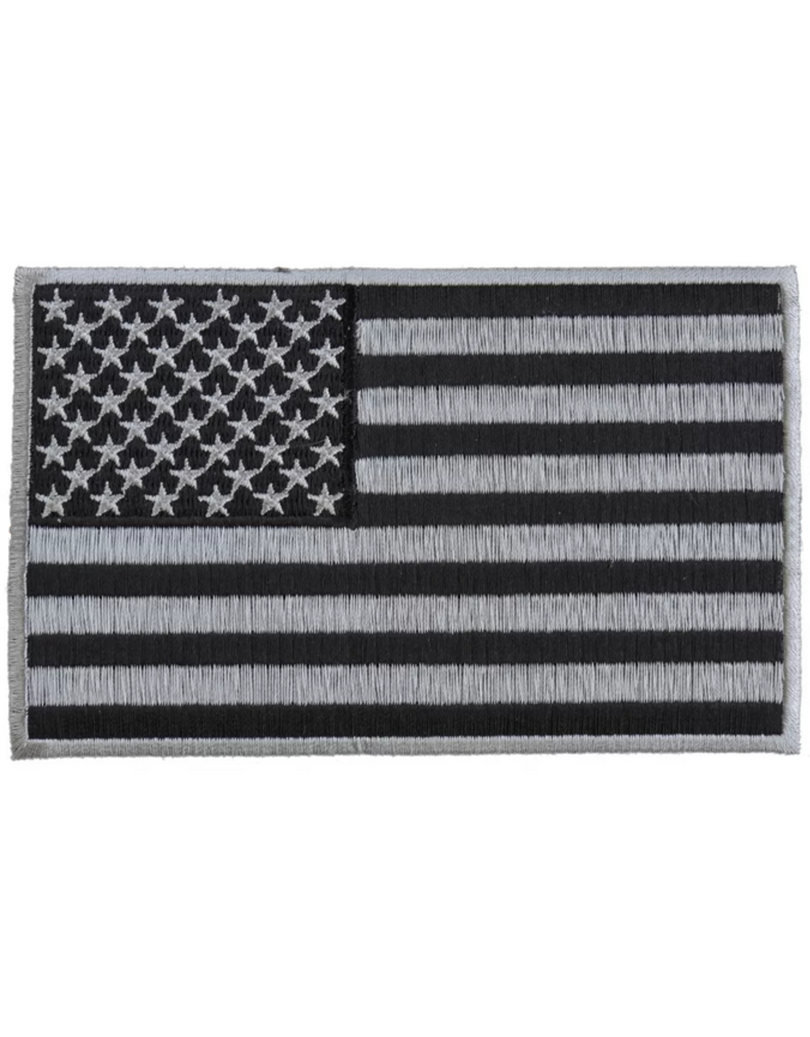 MidMil Embroidered American Flag Black & Silver Patch