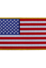 """MidMil Embroidered American Flag Patch 5"""" x 3"""""""