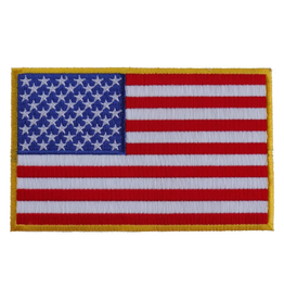 "MidMil Embroidered American Flag Patch 5"" x 3"""