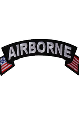 "MidMil Embroidered Airborne Tab Patch with USA tails 4"" wide x 1.5"" high"