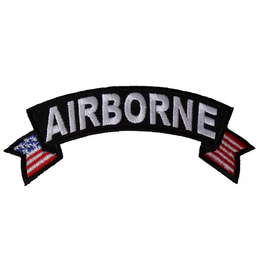 """Airborne Tab Patch with USA tails 4"""" wide x 1.5"""" high"""