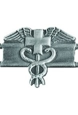 """MidMil Army Expert Medic Pin 1 1/4"""" Antique Silver"""