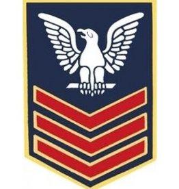 """Navy  Petty Officer 1st Class (E-6) Pin 1 1/8"""""""