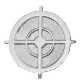 "MidMil Sniper Crosshairs Pin 1"" Silver"