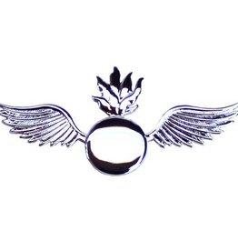 "MidMil Navy Aviation Ordnanceman Rating Pin 2 1/4"" Silver"