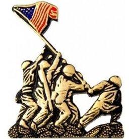 "MidMil WWII Iwo Jima Flag Raising Pin 1 1/4"""