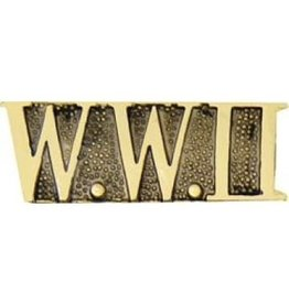 MidMil W.W.II Text Pin 1 1/8""