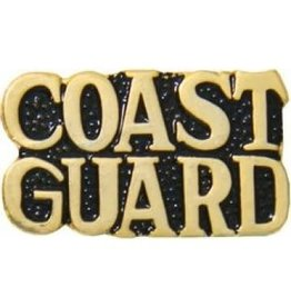 MidMil Coast Guard Text Pin 1""