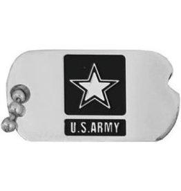 "MidMil Army Dog Tag Pin with  Star Emblem 1"""