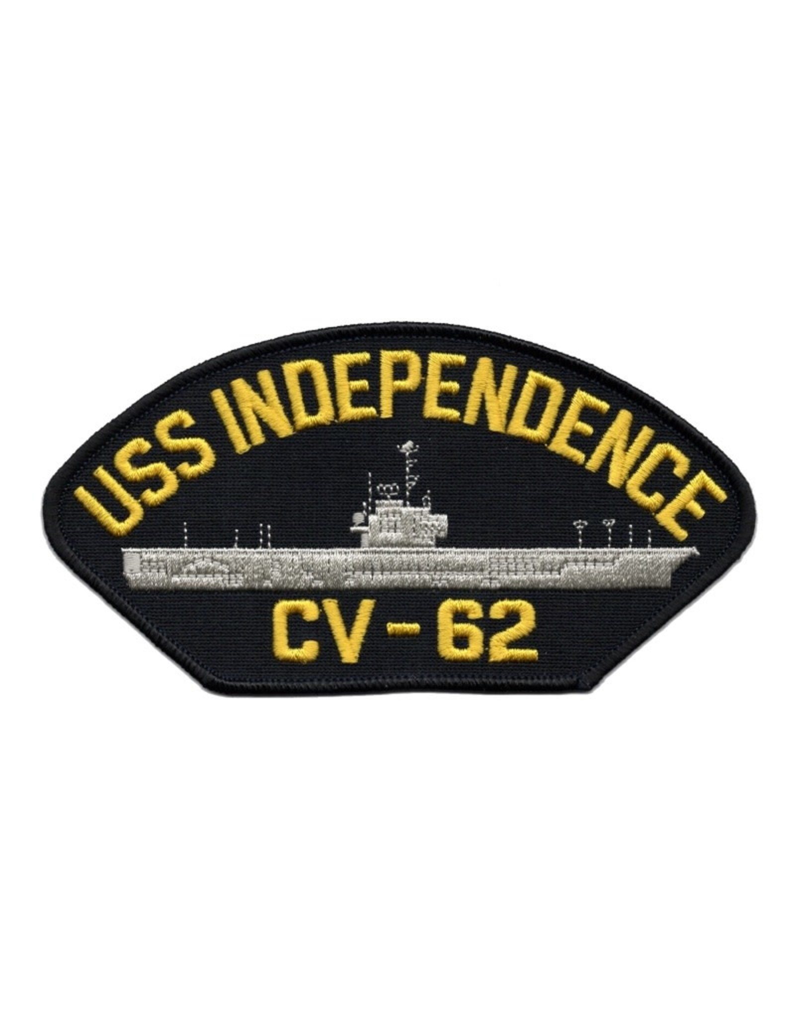 """MidMil Embroidered USS Independence CV-62 Patch 6"""" wide x 3.1"""" high"""