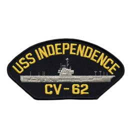 "MidMil Embroidered USS Independence CV-62 Patch 6"" wide x 3.1"" high"
