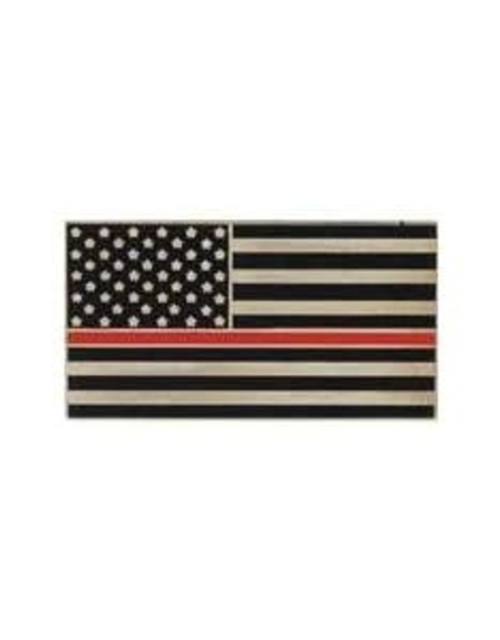 """MidMil Thin Red Line American Flag Fire Fighters Pin 1"""""""