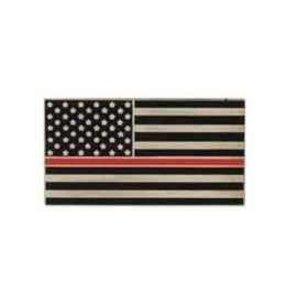 MidMil Thin Red Line American Flag Fire Fighters Pin 1""