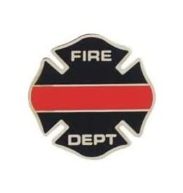 MidMil Thin Red Line Fire Department Emblem 1""