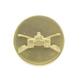 "Armored Emblem Solid Circle Pin 1 1/16"""