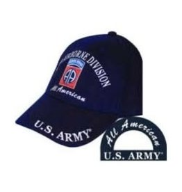 MidMil Army 82nd Airborne Division Hat with Emblem and Motto Black