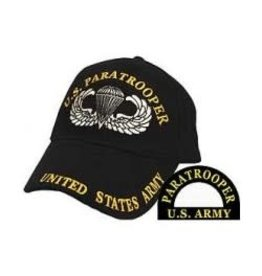 MidMil Army Paratrooper Hat with Paratrooper Wings Emblem Black