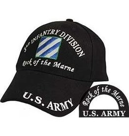Army 3rd Infantry Division Hat with emblem and  motto Black
