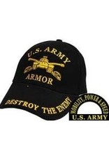 """MidMil Army Armor Hat with Emblem and """"Mobility, Power & Speed"""" Black"""