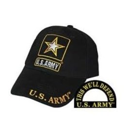 MidMil Army Hat with Star Emblem Black