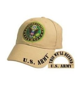 MidMil Army Hat with Seal Khaki