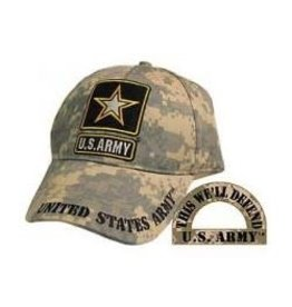 MidMil Army Hat with Star Emblem ACU