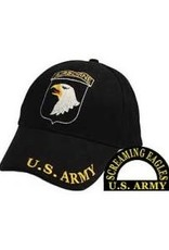 MidMil Army 101st Airborne Division Hat with Crest and Motto Black