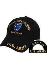 "MidMil Army 23rd Infantry ""Americal"" Division Hat with emblem Black"