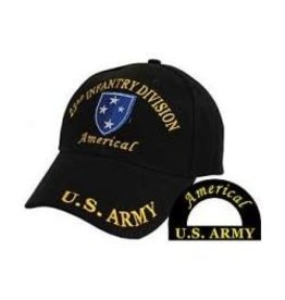 """Army 23rd Infantry """"Americal"""" Division Hat with emblem Black"""