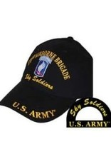MidMil Army 173rd Airborne Hat with Emblem and Motto Black