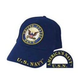 MidMil Navy Hat with Seal Dark Blue