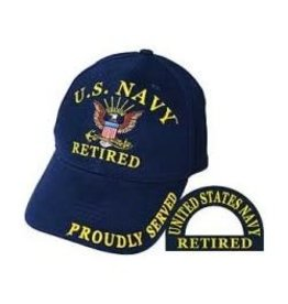 MidMil Navy Retired Hat with Eagle Emblem Dark Blue