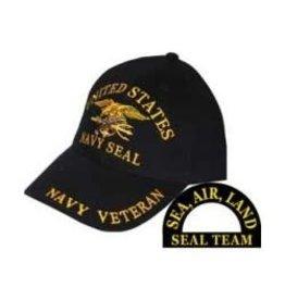 MidMil Navy Seals Hat with Trident Emblem Black