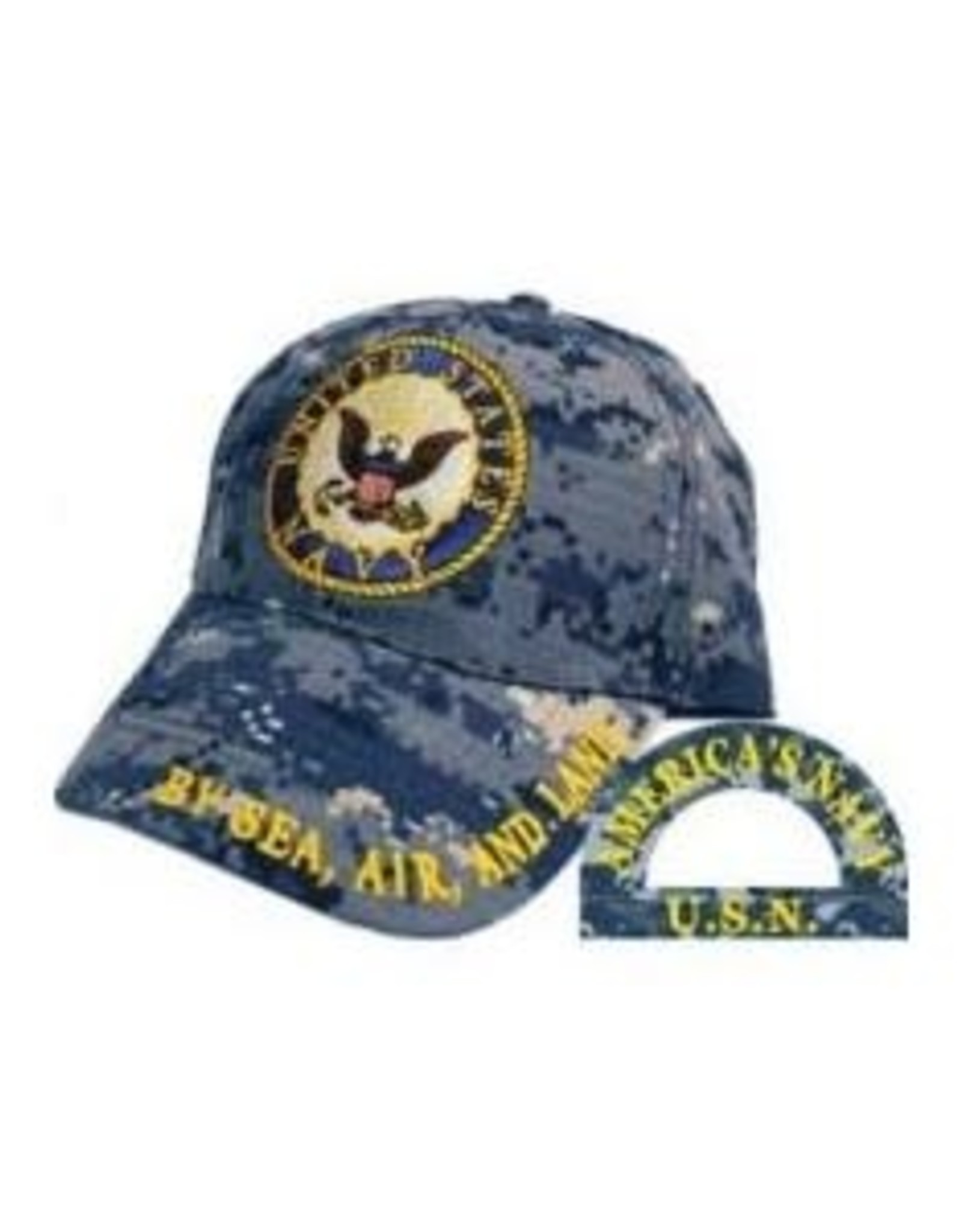 MidMil Navy Hat with Seal Blue Digital Camouflage