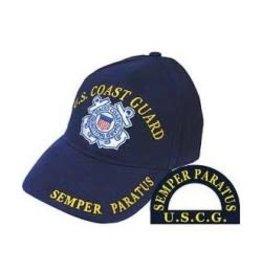 Coast Guard Hat with Emblem and Semper Paratus Motto Dark Blue