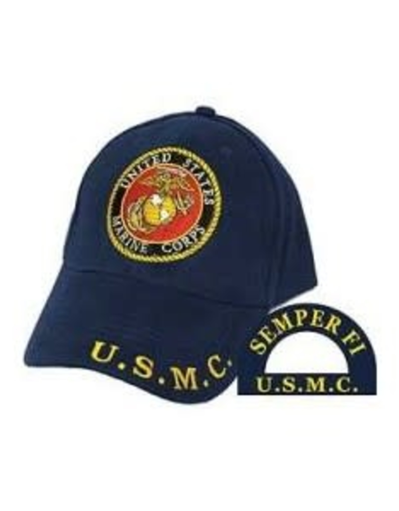 MidMil Marine Corps Hat with Seal Dark Blue
