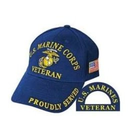 MidMil Marine Corps Veteran Hat with Globe & Anchor Dark Blue