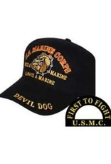 MidMil Marine Corps Devil Dog Hat Black