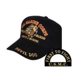 MidMil Marine Corps Devil Dog Hat Black
