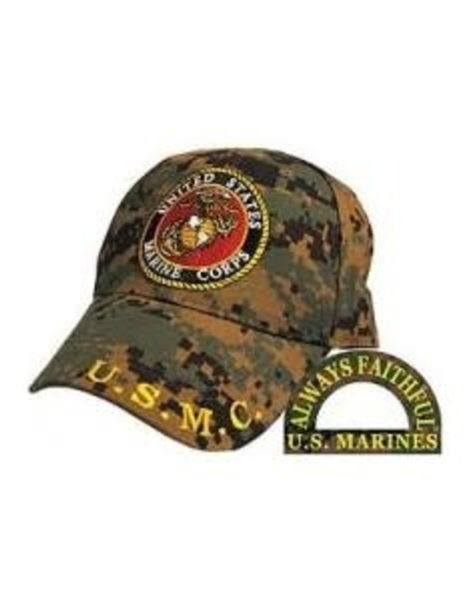 MidMil Marine Corps  Hat with Seal Woodland Digital Camouflage