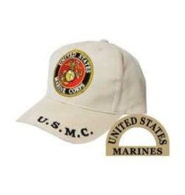 MidMil Marines Seal Hat Khaki