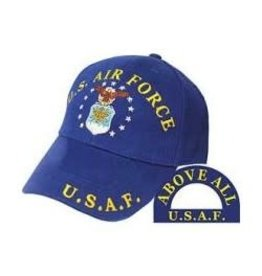 Air Force Hat with Emblem Dark Blue