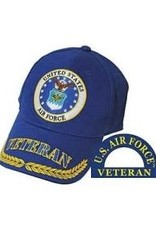 MidMil Air Force Veteran Hat with Seal and with Veteran/Wheat on Bill Royal