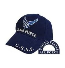 Air Force Hat with Wing Emblem Royal Blue