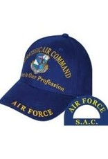 MidMil Air Force Strategic Air Command SAC Hat with Crest and Motto Royal